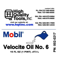 Mobil Velocite Spindle Oil...